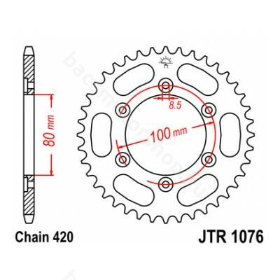Hátsó lánckerék JTR1076.48