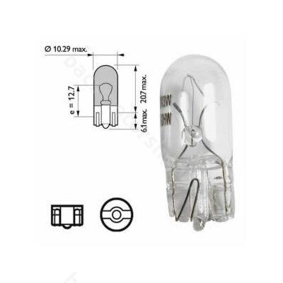 Izzó üvegfejű W5W 12V/5W (helyzetjelző)