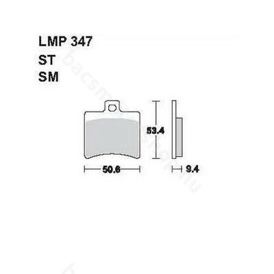 Tárcsafékbetét LMP347ST (AP Racing)