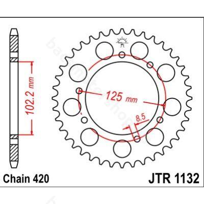 Hátsó lánckerék JTR1132.53