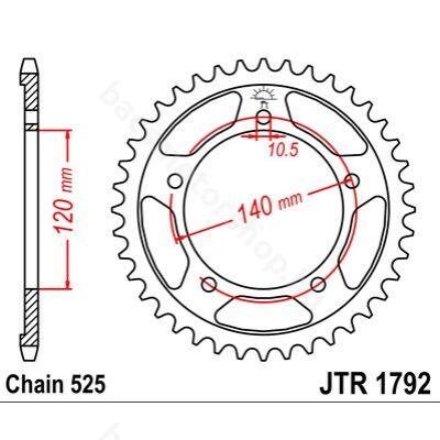Hátsó lánckerék JTR1792.45