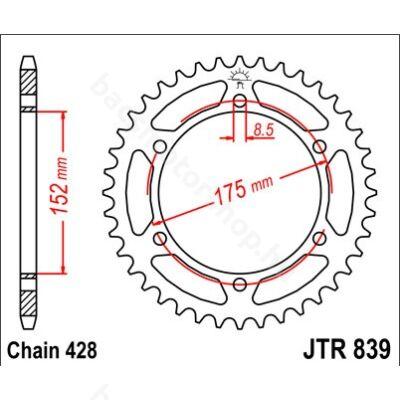 Hátsó lánckerék JTR839.52