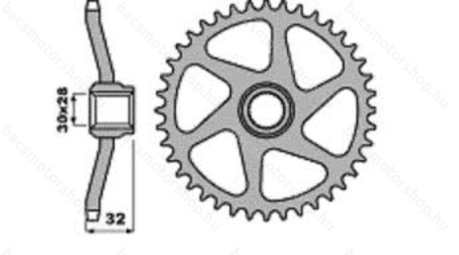 P.B.R hátsó lánckerék Aprilia AF1-FUTURA-RS 50 (Minarelli