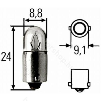 Izzó (jelző) 12V 4W BA9S