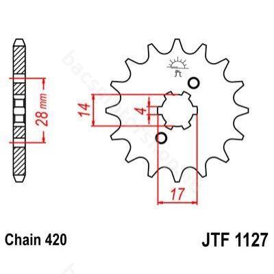 JT első lánckerék  (Derbi Senda EBE/EBS - 420 - 14 fog)