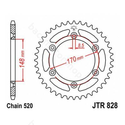JT hátsó lánckerék JTR828.46