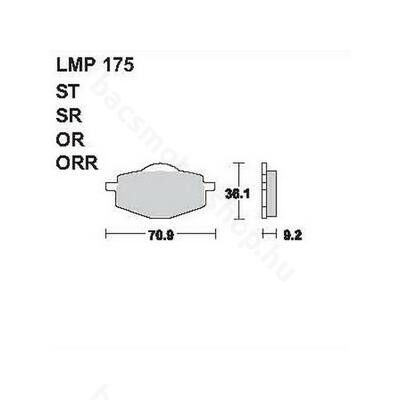 Tárcsafékbetét LMP175ST (AP Racing)