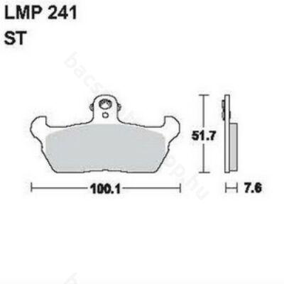 Tárcsafékbetét LMP241ST (AP Racing)