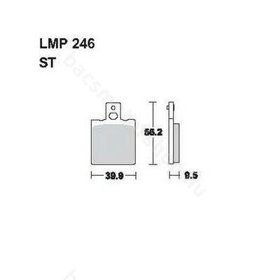 Tárcsafékbetét LMP246ST (AP Racing)