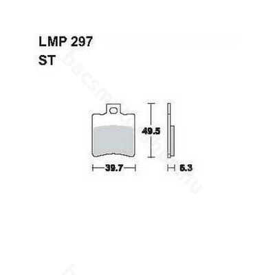 Tárcsafékbetét LMP297ST AP Racing)
