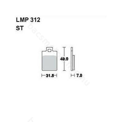 Tárcsafékbetét LMP312ST (AP Racing)