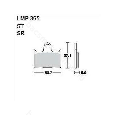 Tárcsafékbetét LMP365ST (AP Racing)