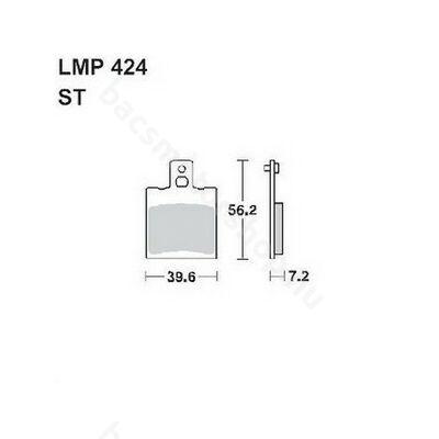 Tárcsafékbetét LMP424ST (AP Racing)