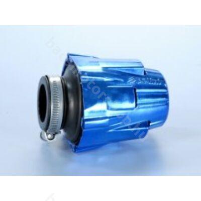 Polini eloxált kék védőházas sportlégszűrő - (Nagy - 37mm - Egyenes