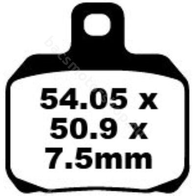 EBC SFA266 Scooter Blackstuff Kevlar-Aramid robogó fékbetét garnitúra