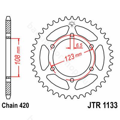 Hátsó lánckerék JTR1133.53