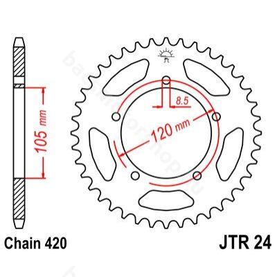Hátsó lánckerék JTR24.51