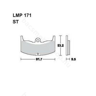 Tárcsafékbetét LMP171ST (AP Racing)